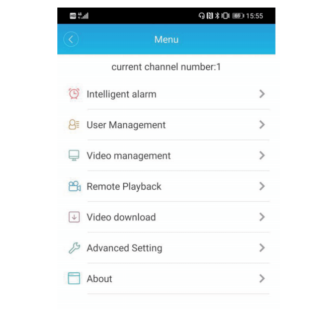 Advanced Settings of the App